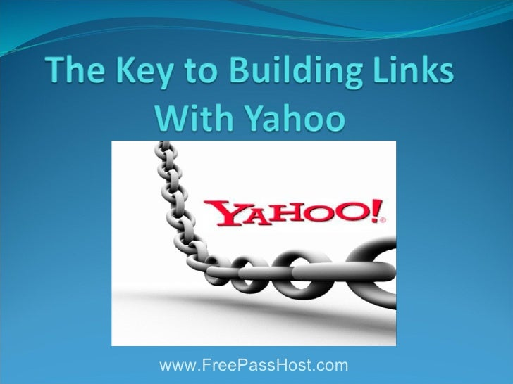 The key to_building_links_with_yahoo