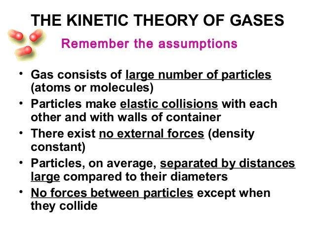 the five assumptions of the kinetic molecular theory of gases