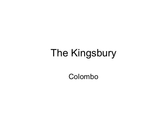The Kingsbury, Colombo - Sri Lanka