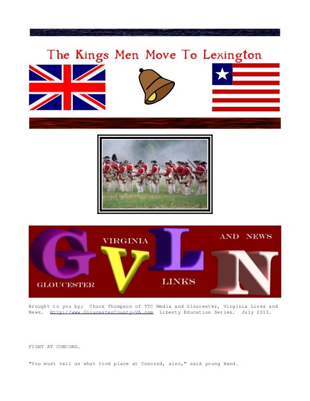 The Kings Men Move To Lexington Brought to you by; Chuck Thompson of TTC Media and Gloucester, Virginia Links and News. Ht...