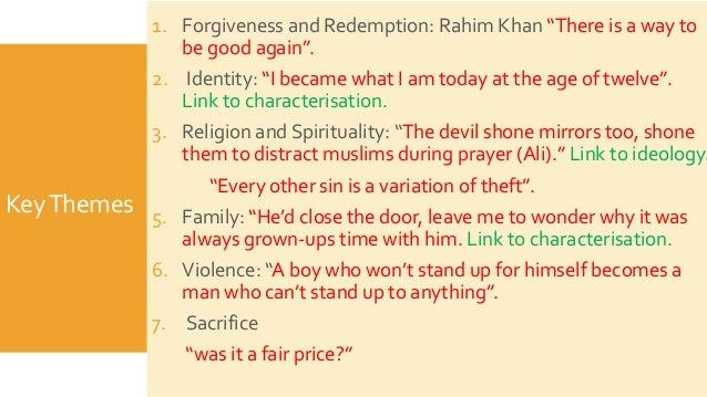 the kite runner thesis statement redemption End matter the kite runner redemption essay conclusion figure 124 on page xxii road to amir's redemption - the kite runner revision themes in the kite runner help with the kite runner thesis statement.