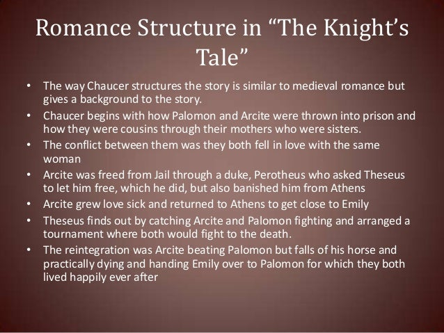 an analysis of chaucer s knight s tale The canterbury tales geoffrey chaucer buy share buy  home literature  analysis part i: the knight's tale perfectly fits the knight himself: that is,.