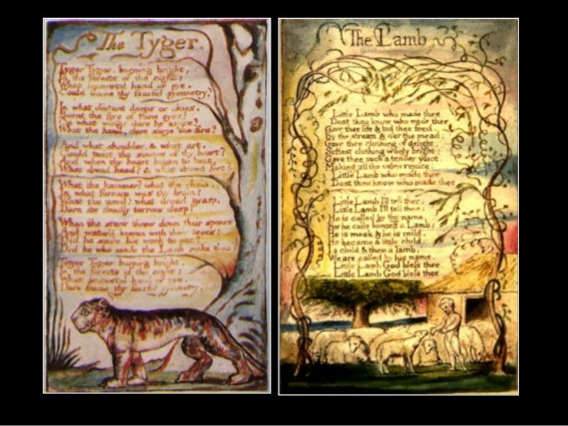 william blake the lamb and the tyger essay Free essay: similarly, 'the tyger' is apparently about the poet talking about the tyger to himself, in a bush not too close by, just so that he can watch the.