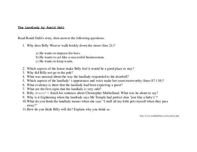 The landlady by roald dahl (1)