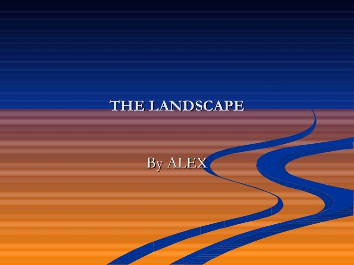 THE LANDSCAPE   By ALEX