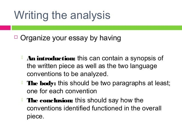 writing a conclusion for an analytical essay