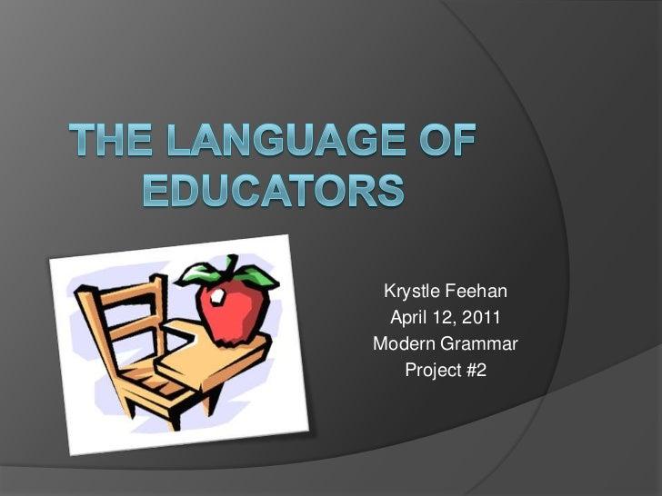 The language of educators