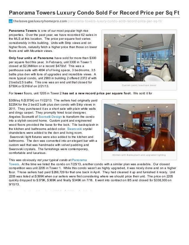 Thelasvegasluxuryhomepro.com panorama towers-luxury_condo_sold_for_record_price_per_sq_ft