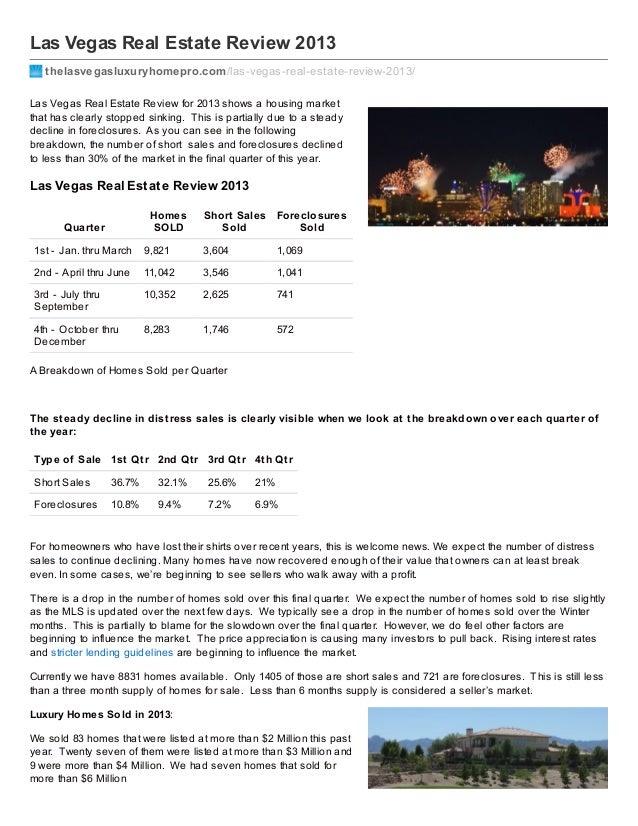 Las Vegas Real Estate Review 2013 thelasvegasluxuryhomepro.com /las-vegas-real-estate-review-2013/ Las Vegas Real Estate R...