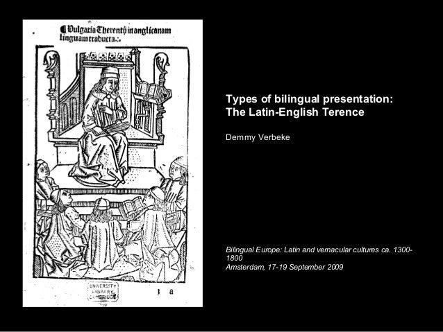 The Latin English Terence