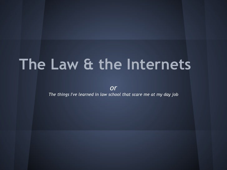 The laws & the internets, Chris Stoll