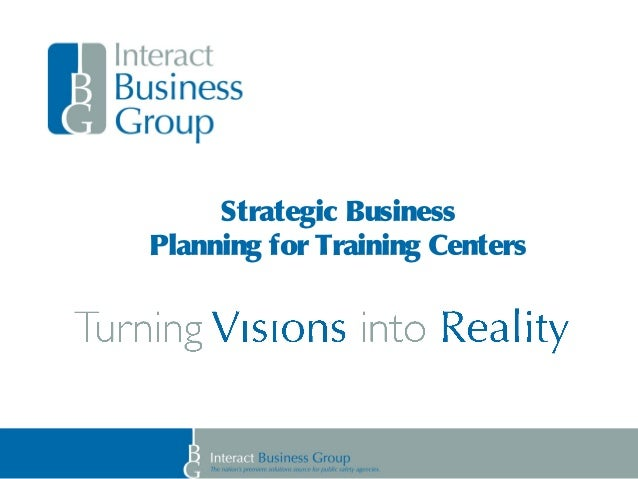 Strategic Business Planning for Training Centers