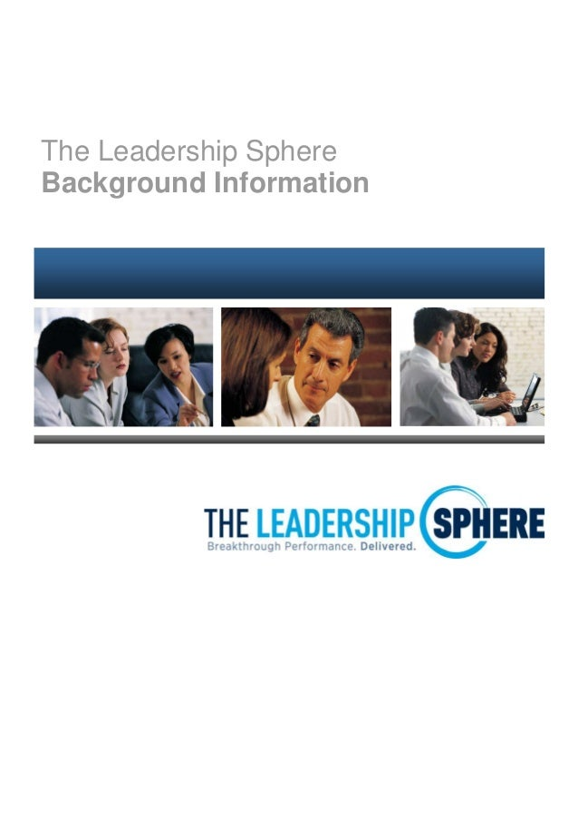 The leadership Sphere background information