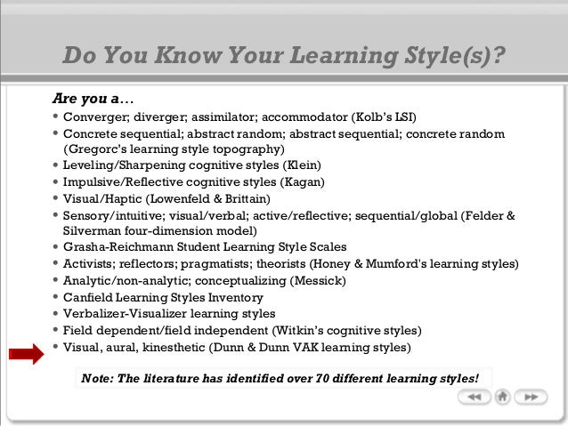 styles of learning essay