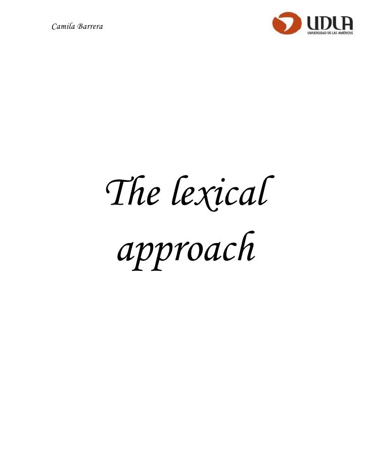 The lexical approach (input)