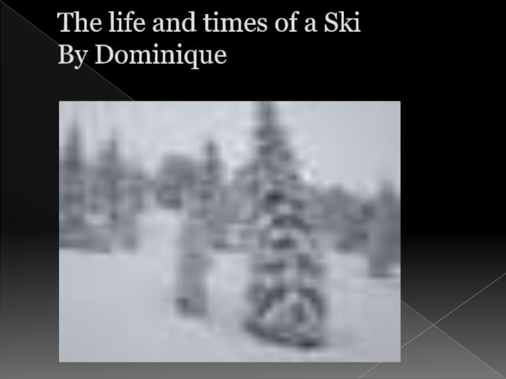 The life and times of a SkiBy Dominique<br />