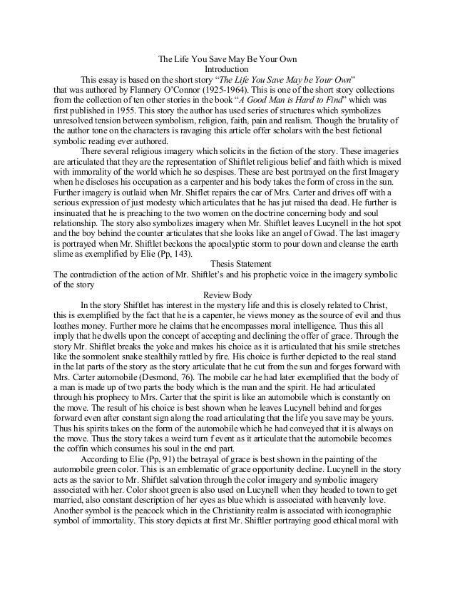 Eli The Good Essay