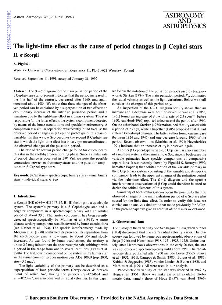 The light time_effect_as_the_cause_of_period_change_in_cephei_stars
