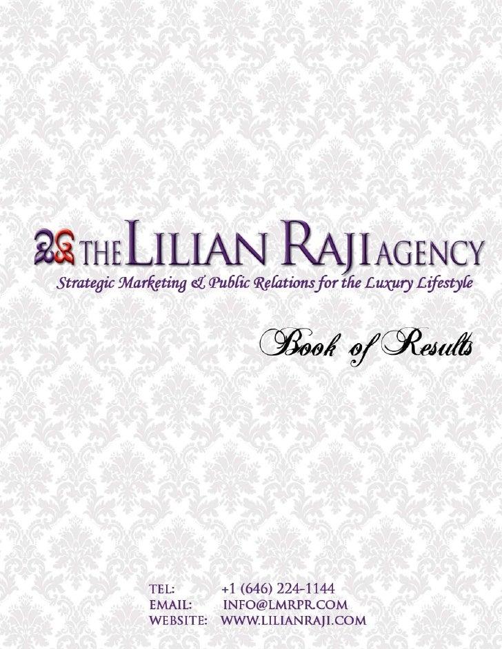 The Lilian Raji Agency - Book of Results