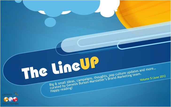 The LineUP (vol 5, June 2012)