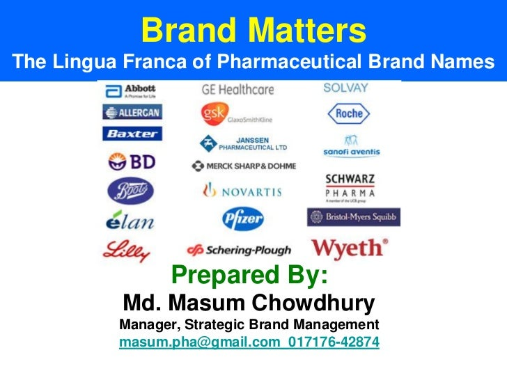 The lingua franca of pharmaceutical brand name approach