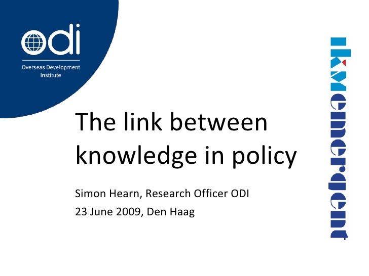 The Link Between Knowledge And Policy
