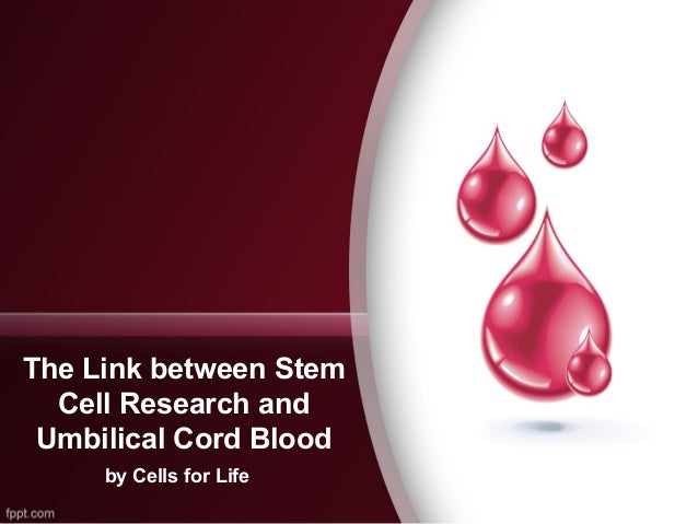 The Link between Stem Cell Research and Umbilical Cord Blood by Cells for Life