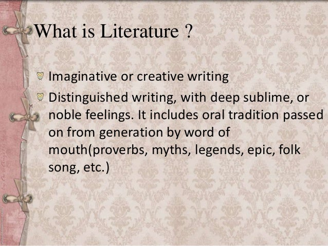 What is litreature