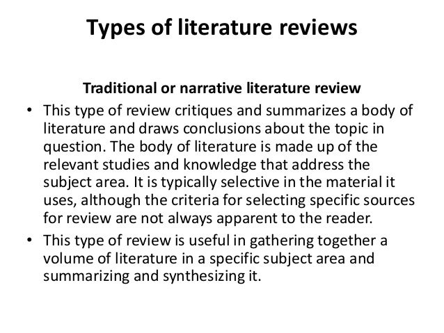 Buying a literature review