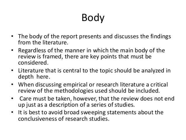 RESEARCH METHODS: WRITING: LITERATURE REVIEW