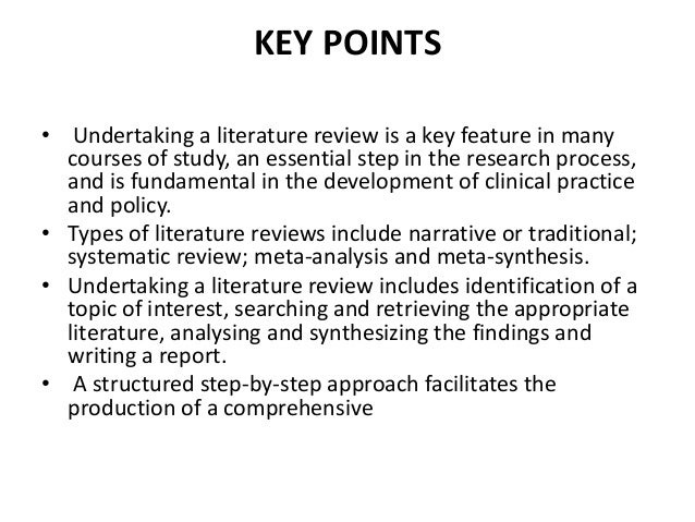 Definition Of Review Of Literature