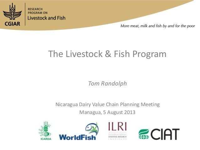 The Livestock & Fish Program Tom Randolph Nicaragua Dairy Value Chain Planning Meeting Managua, 5 August 2013