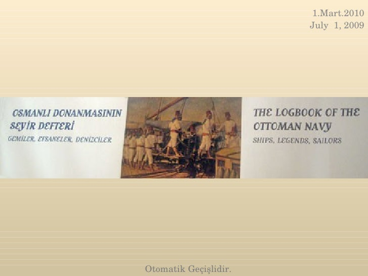 The logbook of the ottoman navy