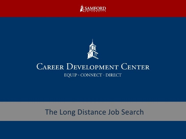 The Long Distance Job Search