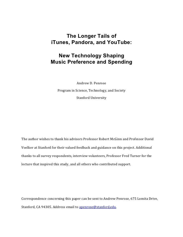 The Longer Tails of iTunes, Pandora, and YouTube