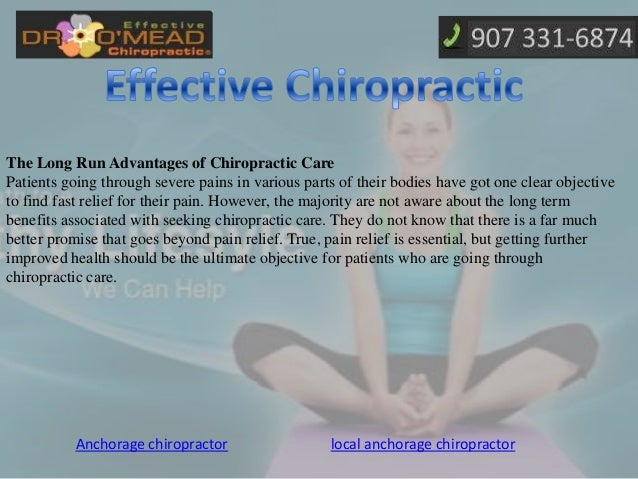 The long run advantages of chiropractic care