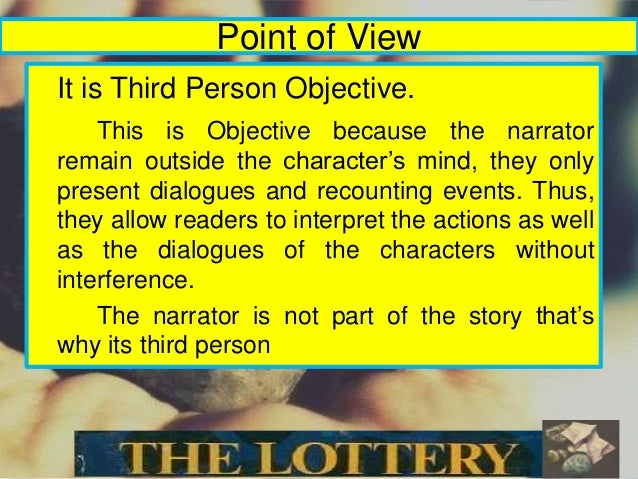 the lottery essay word The lottery essays the short story the lottery is a real shocker you will not have any idea of the harsh and cruel conclusion it has a very unique way of concealing the true happenings it is a virtually floating in a sea of ironies and symbolisms and that, i believe, is the one t.