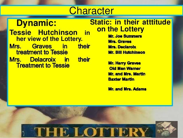"symbolism of tessie hutchinson in the the lottery Throughout the short story of ""the lottery"", shirly jackson presents one  shirly  jackson creates would be through the name mrs hutchinson."