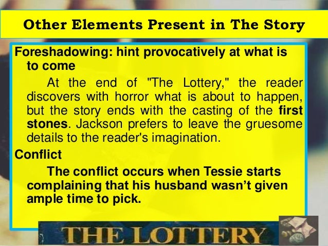 the purpose of shirley jacksons the Symbolism in shirley jackson's the lottery we don't really know what is going on or the purpose of the story throughout, and the box represents this.
