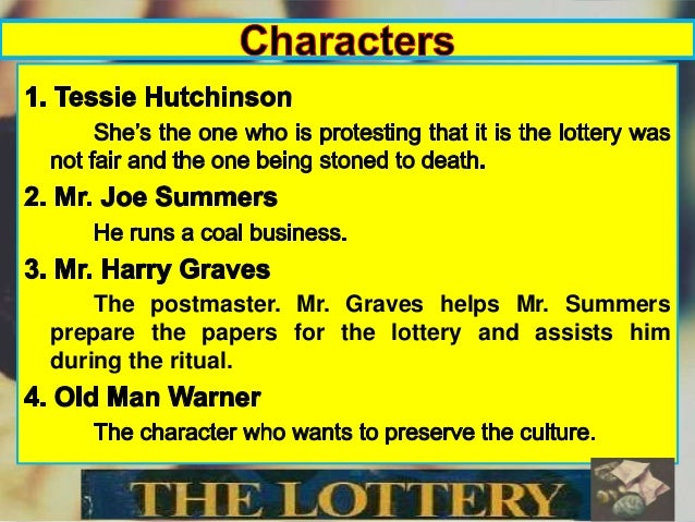 essay on symbolism in the lottery Your full name your instructor's name your course's title 21 march 2011 symbolism in shirley jackson's the lottery in her short story, the lottery, shirley jack.