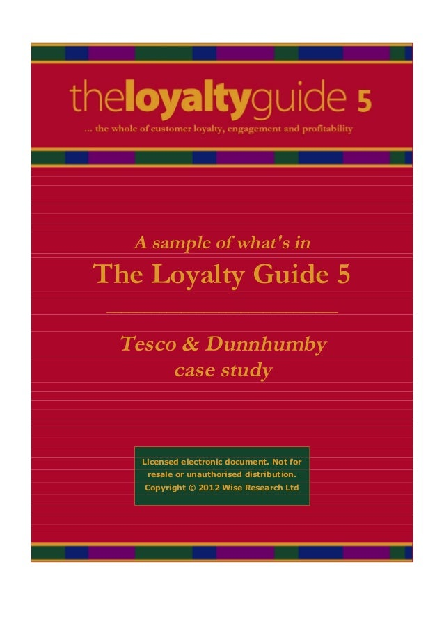 A sample of whats inThe Loyalty Guide 5 _______________________________  Tesco & Dunnhumby       case study     Licensed e...
