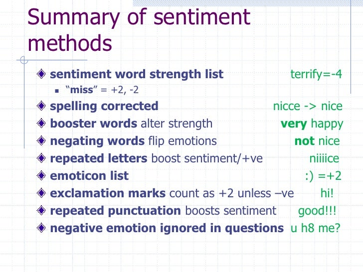 Word Strength Sentiment Word Strength