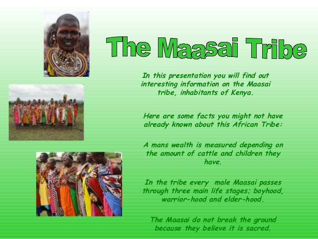a description of the facts about the maasai