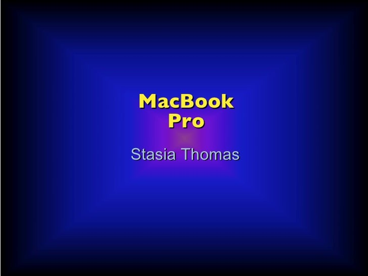 Stasia Thomas MacBook   Pro