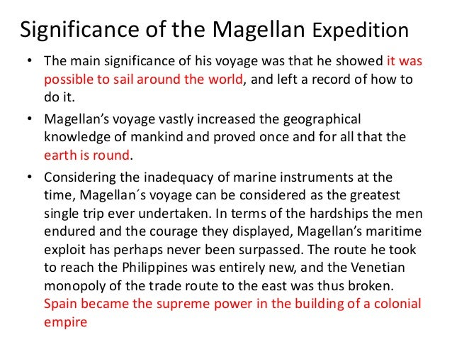 magellan expedition summarized Summary of comparatively recent writings on columbus, see my columbus   hereinafter it will be cited as nowell, magellan's voyage.