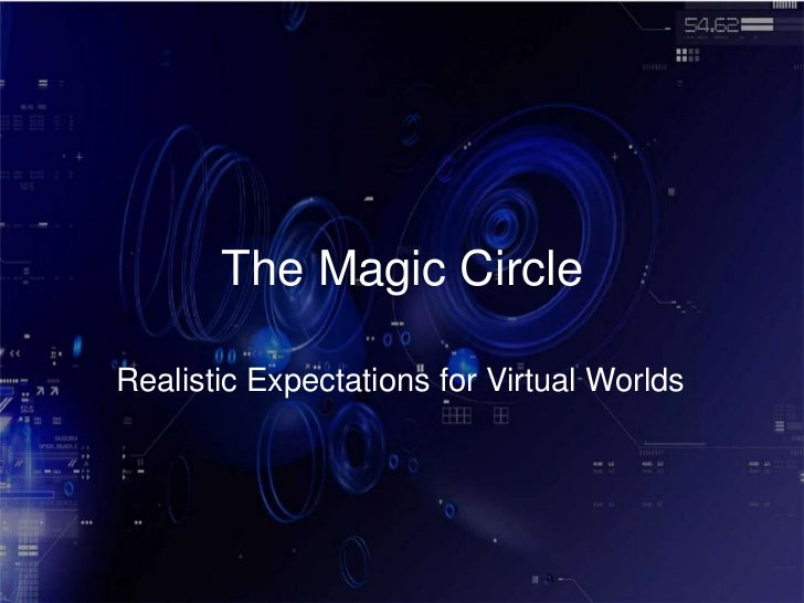 The Magic Circle<br />Realistic Expectations for Virtual Worlds<br />