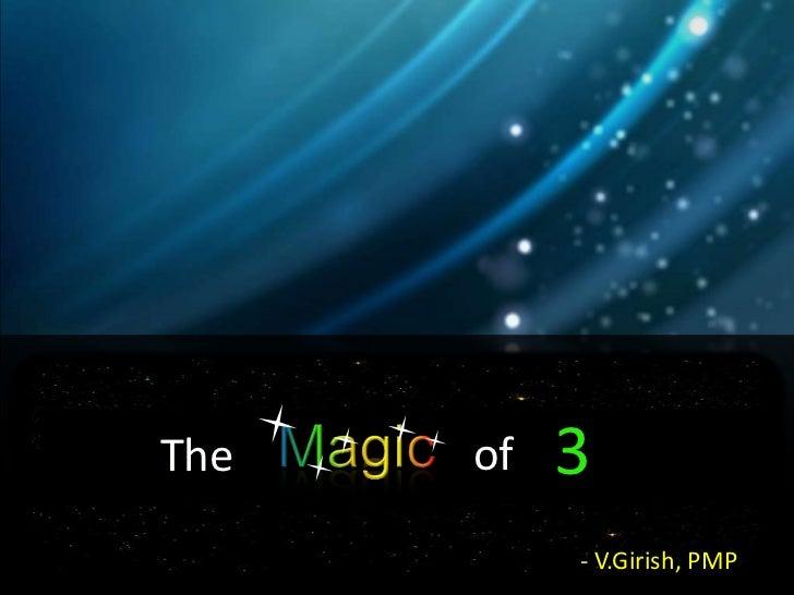 The magic of 3