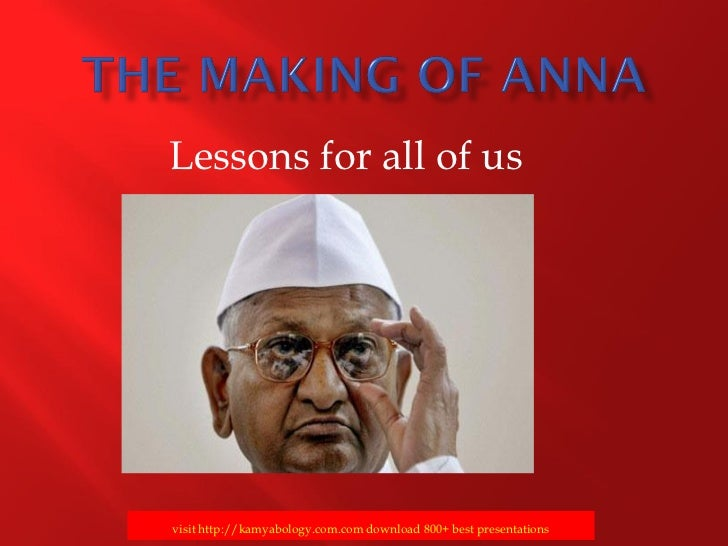 The Making of Anna -Lessons for us-kamyabology.com