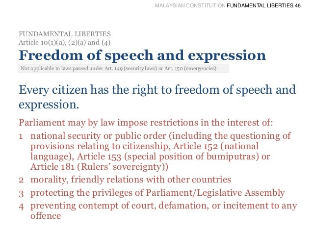 an introduction to the analysis of freedom of speech Freedom of speech, support for terrorism, and the  regarding the scope of protection of freedom of speech introduction on  this analysis.