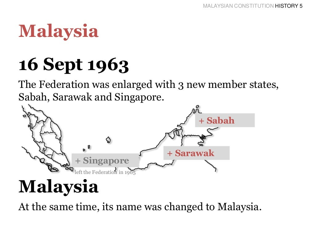 the constitution of malaysia Malaysia: a case study by: a fadzel, llb (hons) (buckingham), llm (queensland) introduction malaysia consists of a federation of fourteen states article 4(1) of the malaysian constitution states that the supreme law of the federation is the constitution.